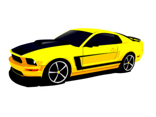 american no name VECTOR muscle car