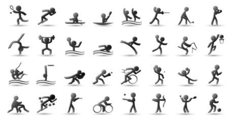 Icônes de Sport (noir)