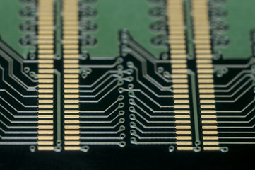 Circuit board extreme close up