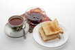 Classic english breakfast isolated on white background.