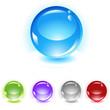 sphere vector icon set