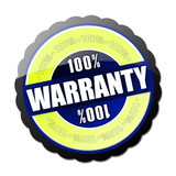 100% Warranty Button poster