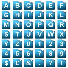 Folded Page Alphabet