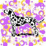 dalmatian design vector poster