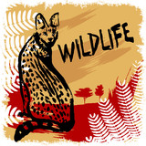 wildlife design vector poster