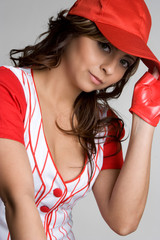 Mexican Baseball Girl