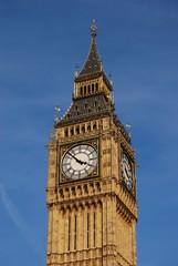 Close up of Big Ben clock tower, London, England