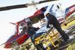 Paramedics unloading patient from Medevac - 12969675