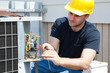 Leinwandbild Motiv Air Conditioning Repair