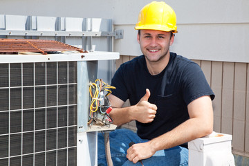 Air Condioner Repairman Thumbsup