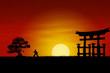 Quadro Japanese Sunset