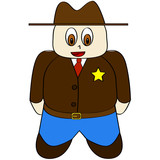 Cartoon sheriff poster