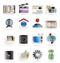 Internet, Computer and Mobil Phone Icons