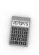 calculator with word reports - isolated illustration