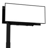 Blank billboard on white ready for branding. poster