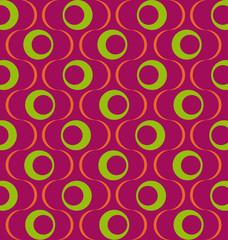 Muster Retro LilaGrün