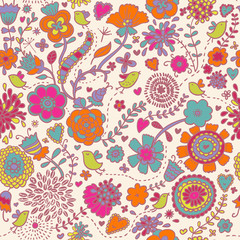 Colorful seamless pattern - vector illustration