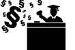 Piktogramm von Richter bei der Urteilsverkündung - 12979834