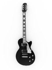Black rock guitar