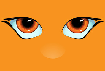 Orange muzzle with the big and kind eyes