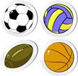 Four balls, icons