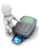3D credit card payment poster