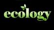Ecology fond noir