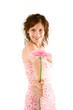 Model mit Blume