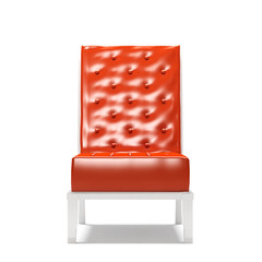 Modern armchair isolated on white background