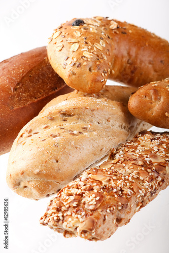 .Group of different bread products