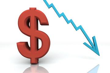 3D Render Money Signs