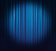 ice-blue curtain with spotlight