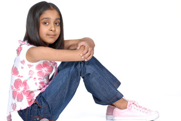 fashionable 7 years old girl