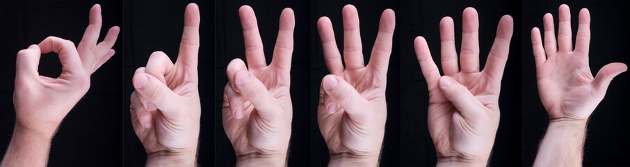 Counting Hands from one to five