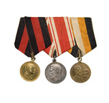 3 medals of Czarist Russian Empire military award poster