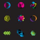 Modern symbol patterns for company header poster