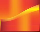 orange swoosh poster