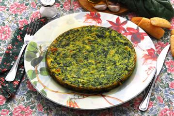 Frittata di spinaci bieta e formaggi - Contorni