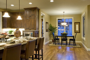 Kitchen with Breakfast Nook in View