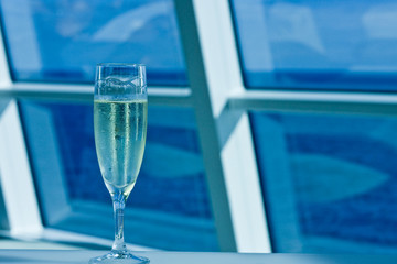 Champagne on Blue