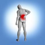 Back pain illustration poster