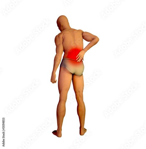 poster of Back pain illustration