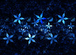 blue floral grunge background