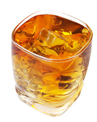 Whiskey with Clipping Path