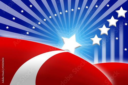 american flag stylized background