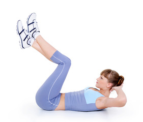 woman  doing physical exercise