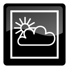 weather forecast icon - cloudy and sunny