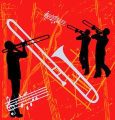 Brass Grunge Bitmap Background