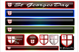 Set of st georges day headers and buttons poster