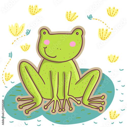 绿色卡通可爱虫子
